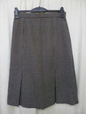Calf Length Wool Unbranded Checked Skirts for Women