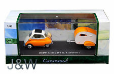 Cararama BMW Isetta 250 with caravan 1 Orange 1/43 14708