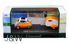 Cararama BMW Isetta 250 CON CARAVANA 1 Orange 1/43 14708
