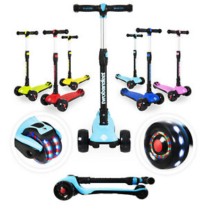 Three Wheeled Scooter-Kids Trike Scooter, Flashing Wheels, Fold-able, Adjustable