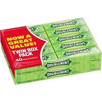 Wrigley's Doublemint Chewing Gum, 5-count (40 Packs)