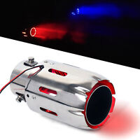 2.5'' 4'' LED Light Stainless Steel Car Exhaust Muffler Tip Pipe Tail Pipe USA