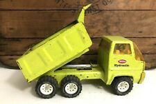 """Vintage Tonka Lime Green Hydraulic Dump Truck Late 60's early 70's 13"""" Long."""