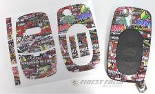 Stickerbomb Dekor Folie Schlüssel Audi A A3 S3 8L A4 S4 B5 B6 A2 A6 C5 TT Carbon
