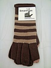 Texting gloves dark brown camel ladies touch screen cell phone