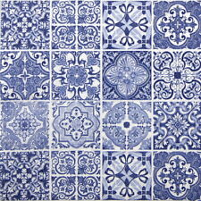 4x Paper Napkins for Party, Decoupage Craft -  Tiles Blue