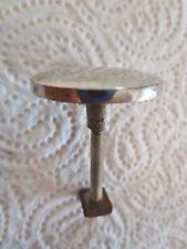ancienne  poignée de meuble-tiroirs 1950 ronde en inox