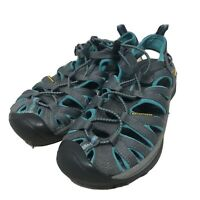 Women's KEEN NEWPORT Sandals Shoes Gray Teal Hiking Trail Waterproof SIZE 7