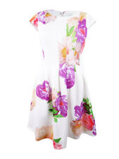 Calvin Klein Women's Plus Size Floral Print Dress