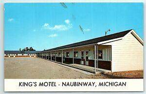VTG Postcard Hotel Motel King's Naubinway MI Michigan US2 Mackinac Bridge A10