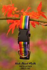 Genuine Pride Rainbow LGBT Gay Pride adult dogs wide width 25mm
