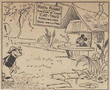 Mickey Mouse Daily Strip - Feb 19, 1931 - VERY RARE Early Floyd Gottfredson art