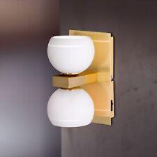 Wofi Applique Lynn à 2 LAMPES LAITON boule en verre blanc INTERRUPTEUR 66 Watt