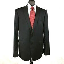 Calvin Klein mens black wool blazer jacket sport coat 46L