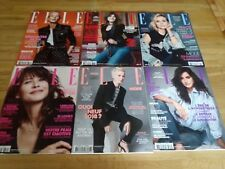 """Lot de six magazines  """"ELLE"""""""