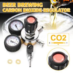 UK  Dual Gauge Beer Brewing CO2 Gas Regulator Carbon Dioxide Homebrew Soda Draft
