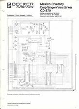Becker Original Service Schaltplan für Mexico Diversity CD 879