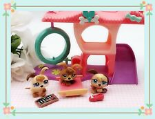 Littlest Pet Shop Petriplets Triplet Puppies #1338 #1339 #1340 +Puppy Play House