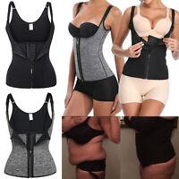 Women Plus Size Neoprene Shapewear Suana Sweat Waist Trainer Gym Work Out Vest