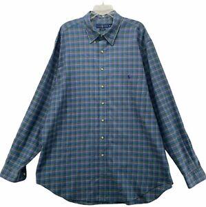 Ralph Lauren Classic Fit Men's Long Sleeved Button Front Shirt Size 2XLT