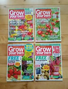 4 Grow Your Own Magazines January - April 2019