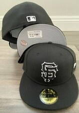 New Era Cap 59FIFTY San Francisco Giants SF BLACK BLACK WHITE Hat Fitted 5950