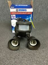Brinks Motion Activated Security Light 180° Detection Zone - Bronze M52C