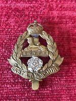 East Lancashire Regiment Bi Metal Cap Badge Genuine British Army 30/4