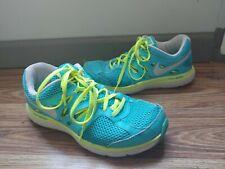 Nike Womens Dual Fusion Lite Shoe Size 8.5 Jogging Running Sneakers Blue Lime