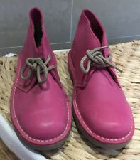Ladies XTI,Size Euro 37 PINK LEATHER ANKLE BOOTS.
