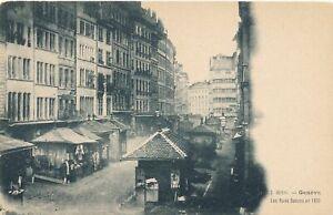 GENEVE - Les Rues Basses en 1850 - Geneva - Switzerland - udb