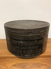 "Rare John G Woodward & Co ""The Candy Men"" Tin Council Bluffs, Iowa"