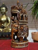 Elefanten Schnitzerei Nepal Tibet Holz Buddha