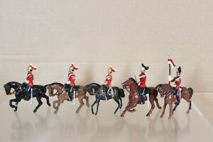 BRITAINS RE PAINTED BRITISH MOUNTED DRAGOON GUARD & LANCER SOLDIERS nw