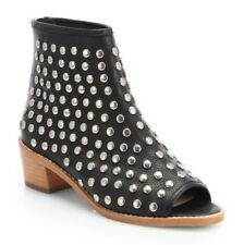 Loeffler Randall Studded Open Toe Ankle Boots in Black Size 7.5 B