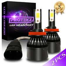 Two H11 LED Headlight Kit 4 Bulbs Plug&Play TurboCool Fan 60W 7200LM 6000K White