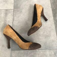 Materia Prima by Goffredo Fantini brown tan suede heels! Size 7