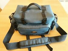 Large Jessops blue Camera Bag - double SLR plus accessories, 3 pockets and strap