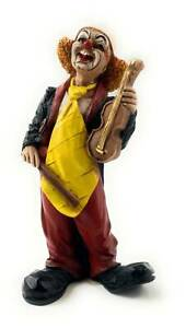 Clown Figur mit Violine Kunstguß von Claudio Vivian by Faro Italien
