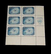 U.N. 1958, New York #60, Atomic Energy, Mnh, Insc. Blk/6, Nice! Lqqk!