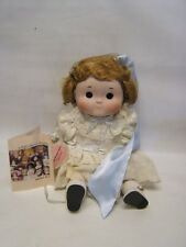 Dolly Dingle Dolls Limited Ed # 791/1500 Cloth & Porcelian c 1986 Music Box