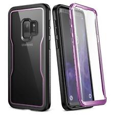 For Samsung Galaxy S9 Case Shockproof Rugged Purple Cover With Screen Protector