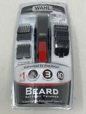 New Wahl 5537-506KR  Beard Trimmer  Shaver Black  Red