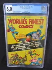 WORLD'S FINEST COMICS #10 - CGC 6.0 - WHITE PAGES!!  BATMAN - SUPERMAN - KIRBY