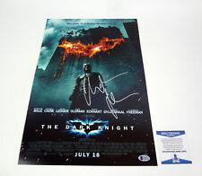 Christian Bale Batman Signed The Dark Knight Movie Poster Beckett BAS COA