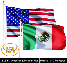 Wholesale Lot of 3' X 5' Usa American & 3' x 5' ft Mexico Mexican Flag