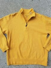 Orvis Men's 1/4-Zip Pullover Sweater 100% cotton size: M color: gold