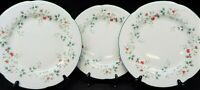 Pfaltzgraff Winterberry Set of 3 Christmas Dinner Plates Holly Berries USA Made