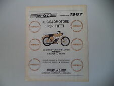 advertising Pubblicità 1967 MOTO MIVAL MI-VAL 48 GRAN TURISMO LUSSO