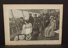 Harper's Weekly Single Pg Viewing the Regatta New York Yacht Club  1891 B9#64